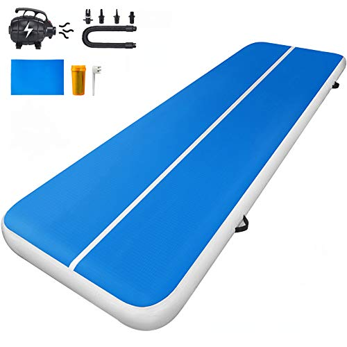 Patiolife Air Track 8in Thick – 10ft x 3.3ft Tumble Track Inflatable – Air Track Tumbling Mat with Electric Air Pump for Gymnastics, Cheer, Tumbling and Home Use
