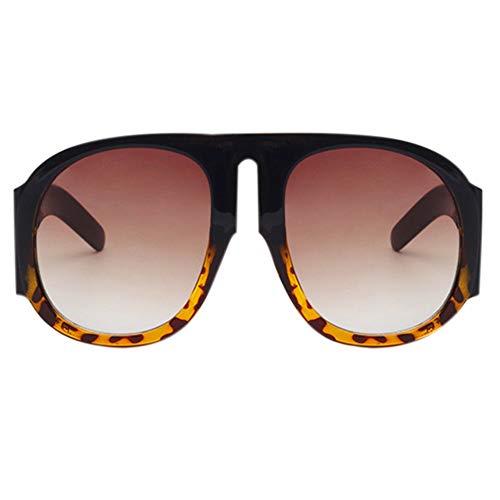 Soleil des Bloquant Lunettes les Tortue Marron Concepteur UV400 Écaille de Rondes D'été Lunettes Conduisant Noires Rondes Ovales Hzjundasi Styliste de Lunettes nBwX5x