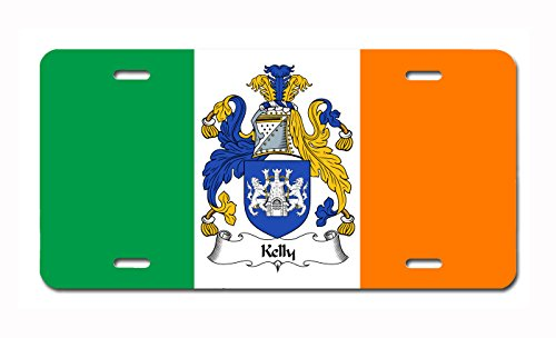 Carpe Diem Designs Kelly Coat of Arms/Kelly Family Crest (Ireland) License/Vanity Plate - Made in The U.S.A.