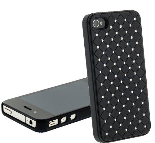 Schutzhülle BLING BLING mit Strassteinen Cover Case Schale für das iPhone 4s / iPhone 4 SCHWARZ