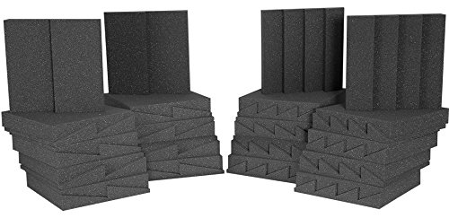Auralex Acoustics D36-DST Roominator Acoustic Absorption Treatment Room Kit, Charcoal/Charcoal