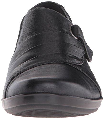 Clarks Vrouwen Everlay Luna Slip-on Loafer Zwart Leer