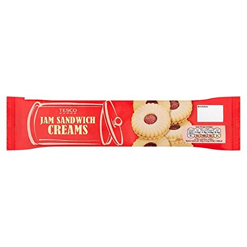 (Tesco Jam Sandwich Creams Biscuit 150G)