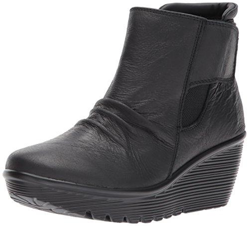 Skechers Women's Parallel-Fastened Ankle Bootie, Black, 7...