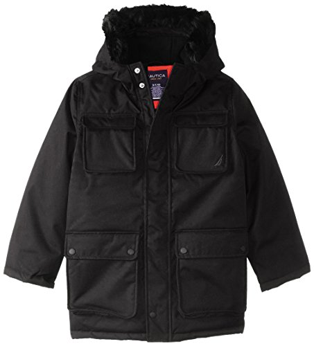 Nautica Big Boys' Anchor Snorkle Coat, Black, X-Large