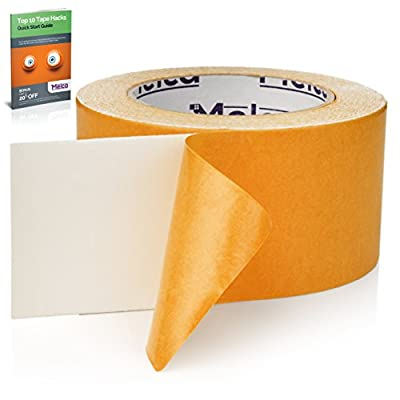Melca Double Sided Carpet Tape – 2.5 Inch Heavy Duty Rug Gripper Anti Slip Adhesive (30 Yards)