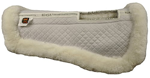 Relief Half Saddle Pad (Large, White) (Wither Half Wool)