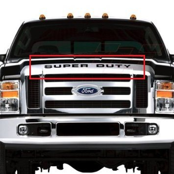 BDTrims | Grille Letters for Ford Super Duty 2008-2016 Plastic Inserts (Black)