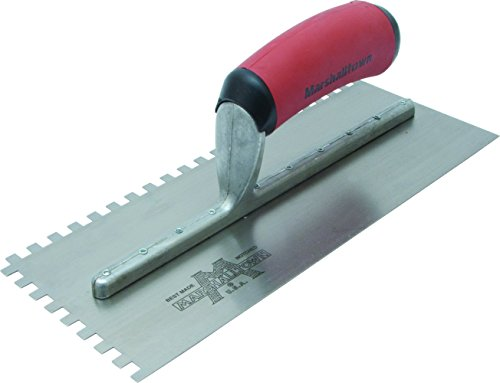 (Marshalltown NT696 16-Inch Notched Trowel 1/2 x 1/2 x 1/2-Inch Sq-Soft Grip Handle )