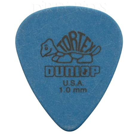Blue 1.00mm Jim Dunlop Tortex Standard Guitar Picks Pack of 12 Picks