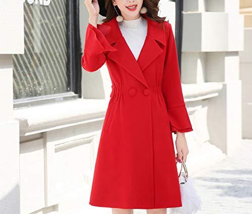 De Automne Manches Coupe Longues Chaud Manteau Et Hiver Ab En Mode Femme Coton Laine D'hiver Rouge vent Dames Chinois Dames Rtqdaw