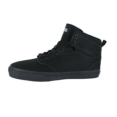 Vans Mens Atwood High Top, Sneakers, Nero / Rosso, M Us Canvas Nero Nero