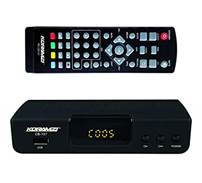 KORAMZI HDTV Digital TV Converter Box ATSC with USB Input for Recording and Media Player (Latest Edition) CB-107
