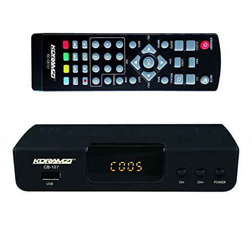 KORAMZI HDTV Digital TV Converter Box ATSC with USB Input for Recording and Media Player (Latest Edition) CB-107 by Koramzi
