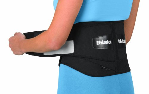 Mueller 64179 Adjustable Back Brace with Removable Pad Fits Waist Size Regular(28