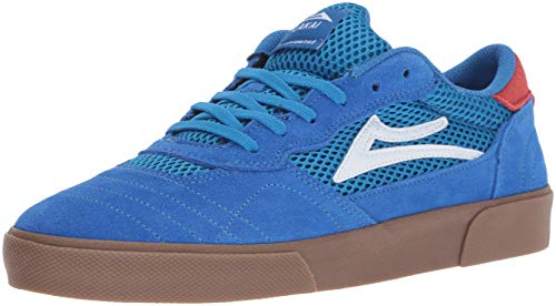 Lakai Men's Cambridge, Blue/Gum Suede, 9 M US by Lakai