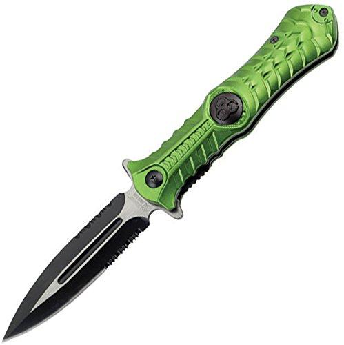 Z-Hunter ZB-003GN Spring Assisted Folding Knife, 4.5-Inch