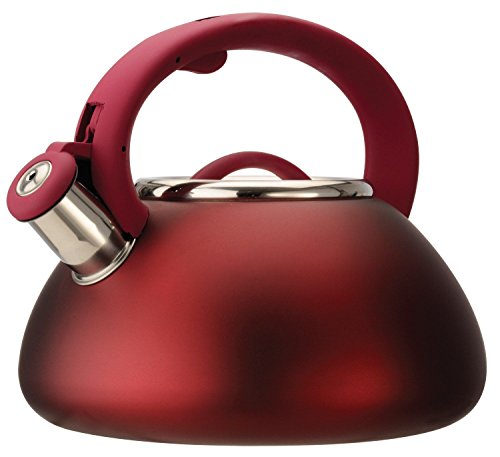 Primula PAVRE-6225 2-1/2 Qt Stainless Steel Matte Red Avalo