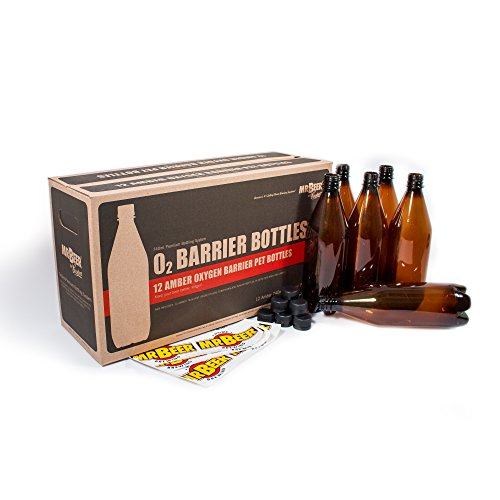 Mr. Beer Deluxe Oxygen Barrier Homebrewing 2 Gallon Beer Bottling Set, 740ml]()