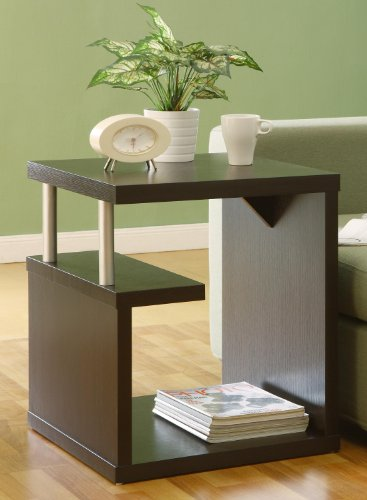 ioHOMES Level End Table, Espresso (Media Storage End Table)