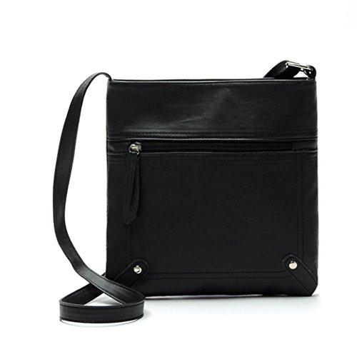 Messenger épaule à Sac femmes en bandoulière sac main Noir FeiTong Mode Sac PU cuir gwRAq7A8