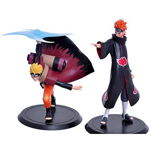 HTDZDX Naruto Character Toy -10 Generation Two Ninja Modello Anime Regalo Souvenir Collezione Artigianato Regalo di Festa (Set di 2)