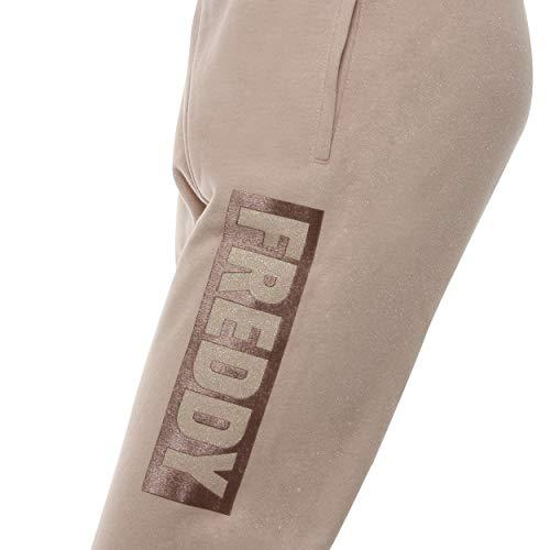 Con Lúrex Cómodo De Rosa Estampado Corte Freddy Felpa Pantalones PvAqUUw