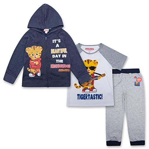 Daniel Tigers Neighborhood Toddler Boys Daniel Tiger Set Hoodie, T-Shirt & Sweatpants Set (Multicolored, 3T)]()