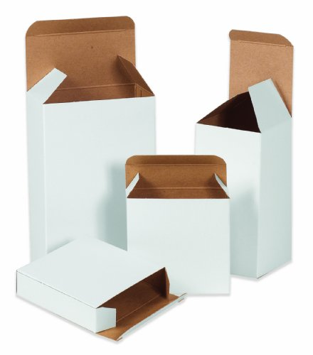 "UPC 841436050487, Aviditi RT2SCW Reverse Tuck Folding Cartons, 1 1/2"" x 1 1/4"" x 2"", White (Pack of 1000)"
