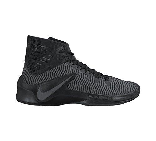 Nike Herren Zoom Clear Out Basketballschuh Schwarz / Metallic Silber / Anthrazit