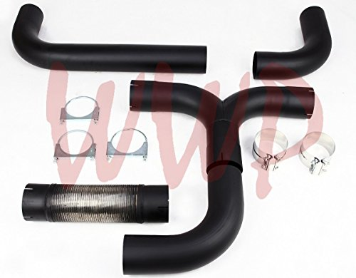 Dodge Truck Dual Exhaust - T409 Stainless Steel Black Universal 4