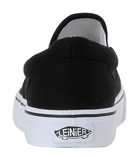 Shoes Fashion Slip Sneakers On Women's Canvas Black MEWOOCUE Casual wAF1qwB