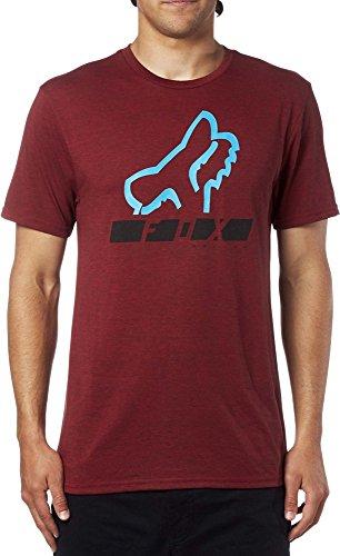 T-Shirt Fox Triangulate Tech Grigio Rosso