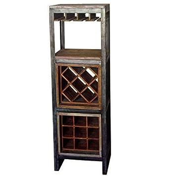 Mathi Design Meuble Bar A Vin Amazon Fr Cuisine Maison