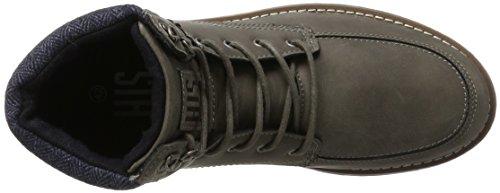 H.I.S Herren 16me0015 Chukka Boots Grau (Dk Grey)