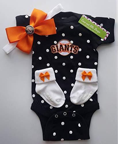 huge selection of 033c2 e62cc Amazon.com: San Francisco Giants baby girl outfit/San Fran ...