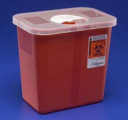 Kendall Sharps Container with Rotor Lid - 2 Gallon - 1/Each