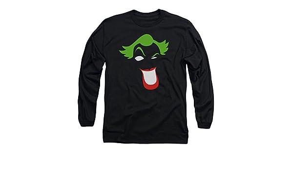 Batman JOKER Face SIMPLIFIED Hair Smile Licensed Adult T-Shirt All Sizes