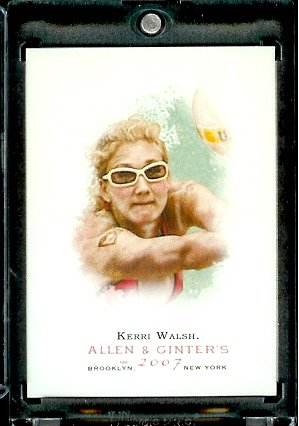 2007 Topps Allen & Ginter # 322 Kerri Walsh (SP) SHORT PRINT Olympic Beach Volleyball Champion Trading Card