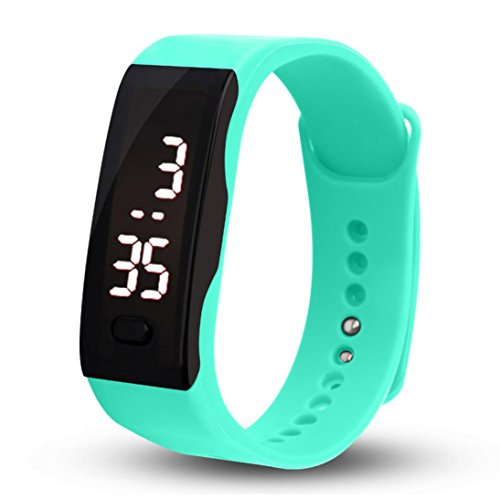 Malltop LED Watch, Unisex Rubber Bracelet White LED Digital Display Sports Wrist Gift Watch