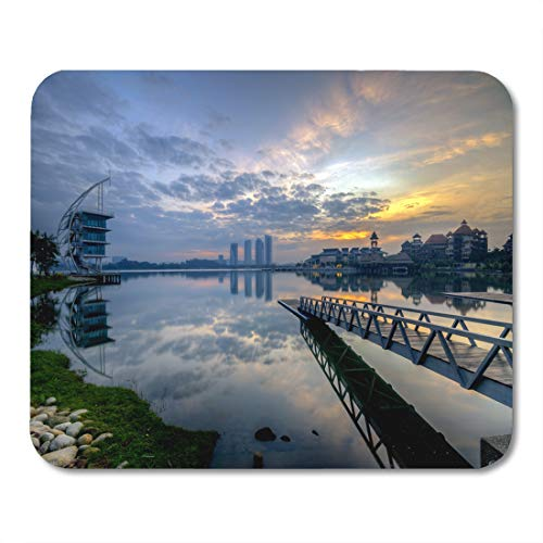 "Semtomn Mouse Pad Blue Putrajaya Malaysia 15 January Pullman Lakeside in Sunrise Mousepad 9.8"" x 7.9"" for Notebooks,Desktop Computers Mouse Mats, Office Supplies"