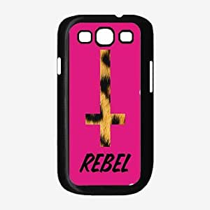 Leopard Rebel on Pink Background - TPU Rubber Silicone Phone Case Back Cover (Galaxy S3)