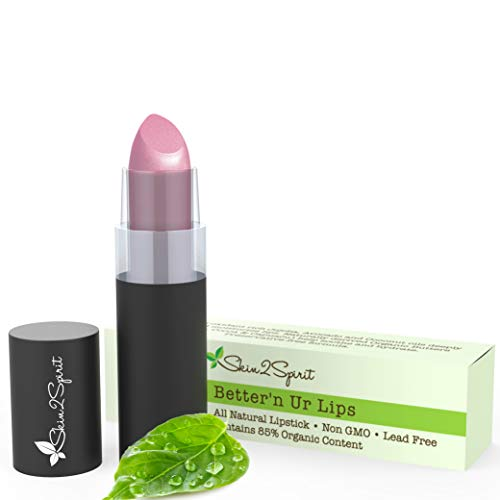 Better'n Ur Lips Vegan Lipstick (SWEET PEA 2.0) | 100% Natural | Organic | Gluten Free | Cruelty Free | Vegan | Lead Free | Paraben Free | Petroleum Free | Healthy Color that's Good for your Lips!
