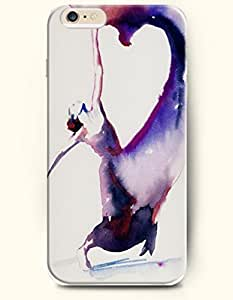 OOFIT Hard Phone Case for Apple iPhone 6 Plus ( iPhone 6 + )( 5.5 inches) - Purple Dancing Girl - Oil Painting