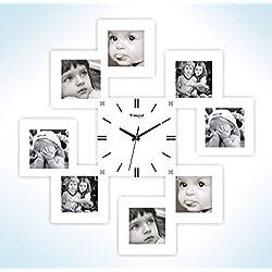 Jedfild Personalized Photo Frame, Black Wall Clock