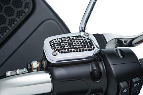 - Kuryakyn 6530 Mesh Brake Master Cylinder Cover for '08-'17 Touring, Chrome
