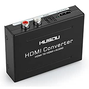 Musou HDMI Audio Extractor, HDMI a HDMI vídeo Adaptador+ R