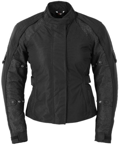 Fieldsheer Lena 2.0 Women's Textile Street Bike Motorcycle Jacket - Black / Plus Medium - Fieldsheer Street Bike