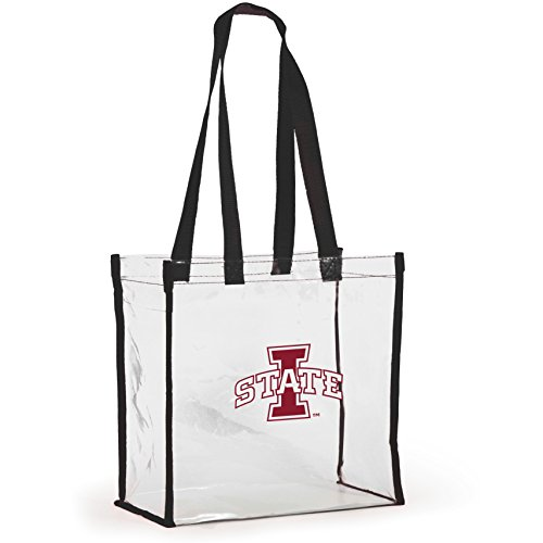 Desden Open Top Stadium Tote, clear with long handles for Iowa State Cyclones Fans. by Desden
