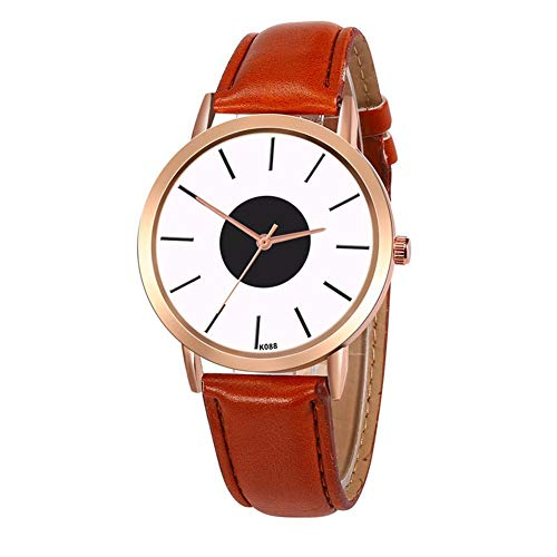 Assiduousic for ZOLFA Quartz Watch, Leather Strap Comfortable Durable Ultralight Simple Ladies Fashionable Wristwatch with High Hardness Glass Mirror, for Women Girls